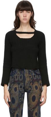 Eckhaus Latta Black Snoopy Sweater