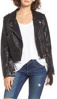 Blank NYC BLANKNYC Faux Leather Crop Moto Jacket