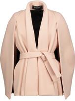 Balmain Pleated Wool And Cashmere-Blend Felt Cape