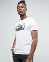Patagonia 73 Logo T-shirt Slim Fit In White Marl
