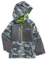 F.O.G. By London Fog Mix Media Camo Jacket