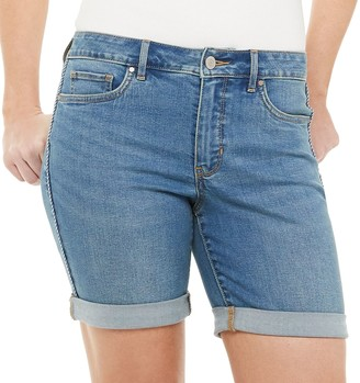 Croft & Barrow Women's Cuffed Jean Shorts