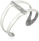 The Sak Woven Open Silver Cuff Bracelet