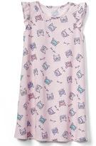 Jersey flutter nightgown