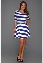 French Connection Fun Stripe Jersey (Royal Blue) - Apparel