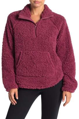 Zella Z By Free Style Faux Shearling Pullover