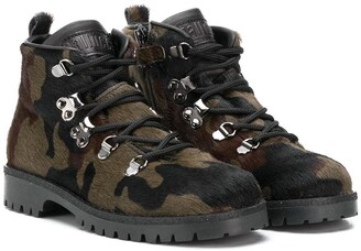 Gallucci Kids Camouflage Ankle Boots