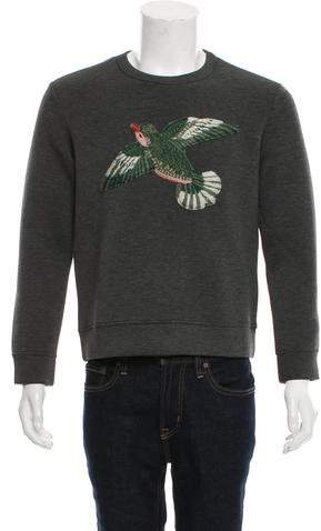 Gucci Bird Appliqué Neoprene Sweater
