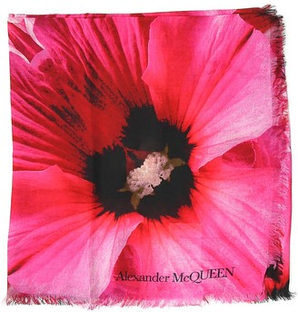 Alexander McQueen Floral Printed Scarf
