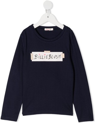 Billieblush logo-print long sleeved T-shirt