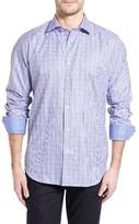 Bugatchi Men's Classic Fit Windowpane Check Sport Shirt