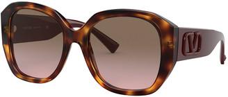 Valentino Chunky Square VLOGO Sunglasses