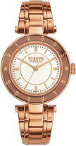 Versus By Versace Women's Rose Gold-Tone Ion-Plated Stainless Steel Bracelet Watch 34mm SP8210015