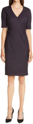 HUGO BOSS Dibelo V-Neck Sheath Dress