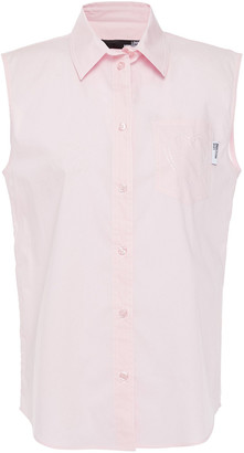 Love Moschino Embroidered Cotton-blend Poplin Shirt