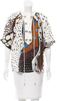 Roberto Cavalli Lace-Up Silk Top