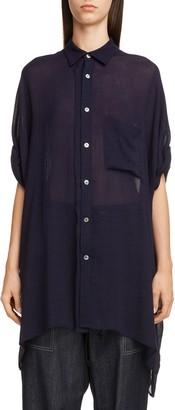 Yohji Yamamoto Y's by Oversize Drape Sleeve Shirt