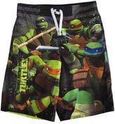 Nickelodeon Big Boys Grey TMNT Print Swimwear Shorts