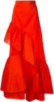 Peter Pilotto frill maxi skirt - women - Silk/Polyester - 10