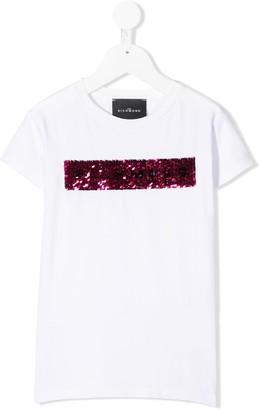 John Richmond Junior sequin-logo T-shirt