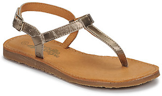 Citrouille et Compagnie MIZZA girls's Flip flops / Sandals in Gold