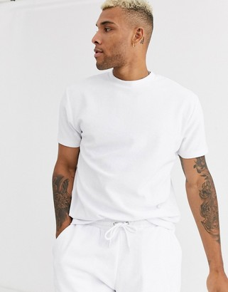 Asos Design DESIGN co-ord relaxed t-shirt in towelling in white