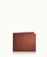 GiGi New York Bi-Fold Wallet Brown Vachetta Leather