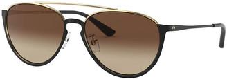 Tory Burch Aviator Metal Sunglasses