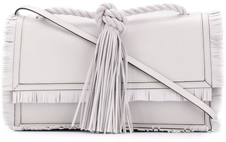 Valentino fringed tasseled tote bag