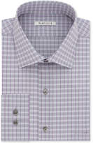 Van Heusen Men's Classic/Regular Fit Wrinkle Free Flex Collar Stretch Dusty Violet Check Dress Shirt
