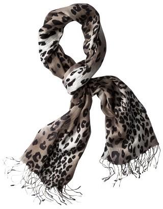 Merona Black/White Cheetah Scarf
