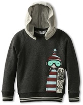 Little Marc Jacobs Fleece Printed Sweatshirt With Hood (Little Kids/Big Kids) (Grey) - Apparel