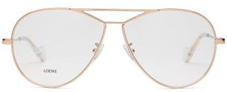 Loewe Teardrop Aviator Glasses - Rose Gold