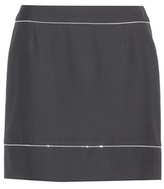 Balenciaga Embellished Wool Crepe Skirt