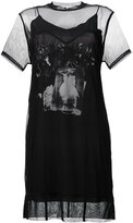McQ graphic print mesh dress