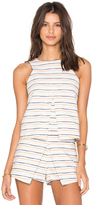 J.o.a. Sleeveless Stripe Top