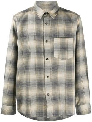 A.P.C. Check Long-Sleeve Shirt
