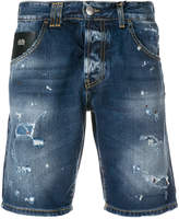 John Richmond distressed denim shorts