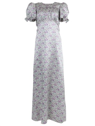 The Vampire's Wife Silk Floral Puff Sleeve Dress