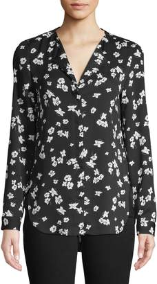 Lord & Taylor Petite High-Low Floral Top