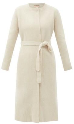 Brock Collection Razzo Ribbed Wool-blend Cardigan - Light Beige