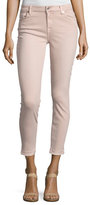 7 For All Mankind The Ankle Skinny Jeans with Released Hem, Pink
