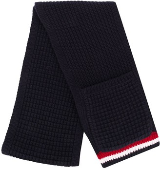 Thom Browne Chunky-Knit Pocket-Detail Scarf