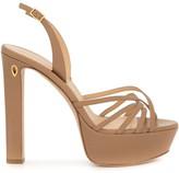 Jennifer Chamandi sling-back platform sandals