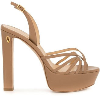 Jennifer Chamandi Sling-Back Platform Sandals