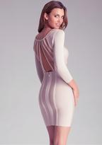 Bebe 3/4 Sleeve Strap Dress