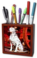 3dRose LLC 3dRose ph_457_1 Dalmatian Tile Pen Holder, 5-Inch