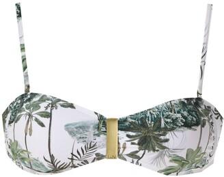 Lygia & Nanny Mariana printed bikini top