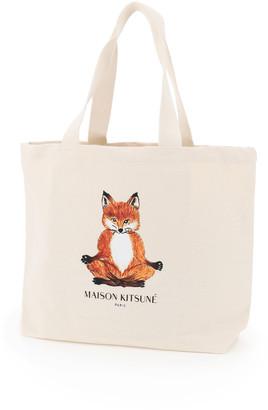 MAISON KITSUNÉ Fox Head Logo Tote Bag