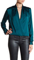 Lovers + Friends Whisper Surplice V-Neck Solid Blouse